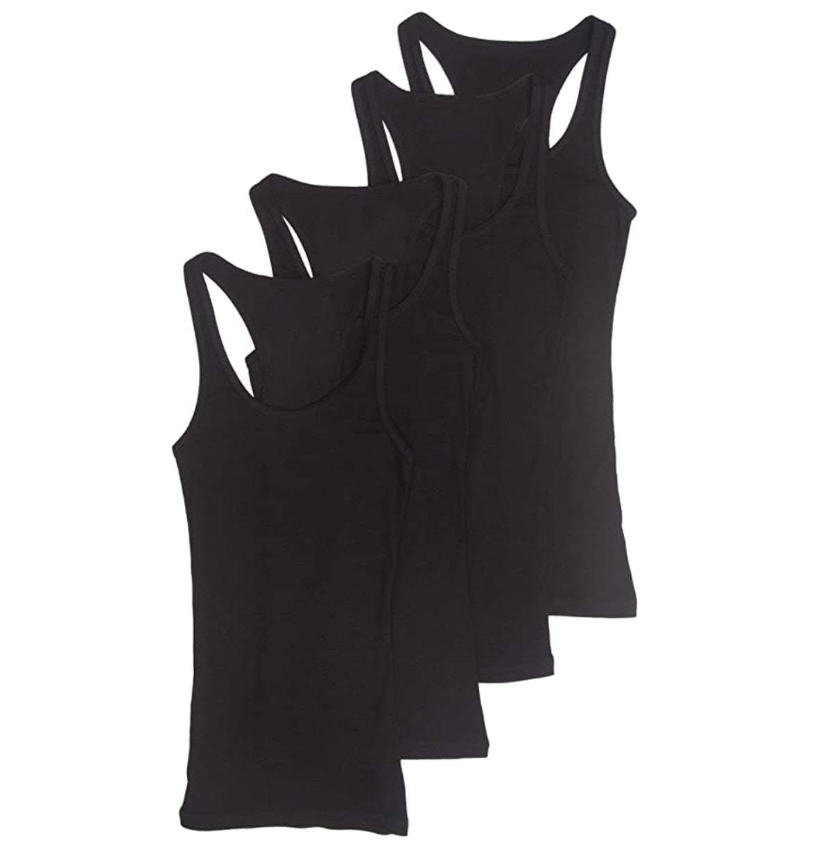 Zenana Outfitters Basic Ribbed Racerback Tank Top (4-Pack)