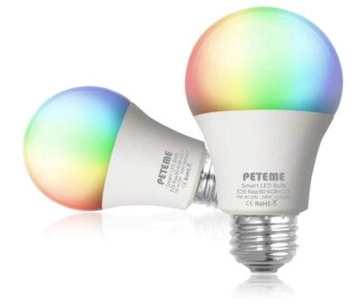 Peteme Smart Alexa Light Bulb (2-Pack)