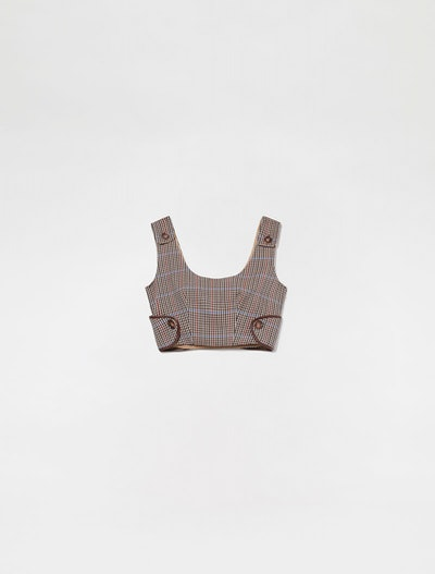 Tailored Checked Wool Bodice
