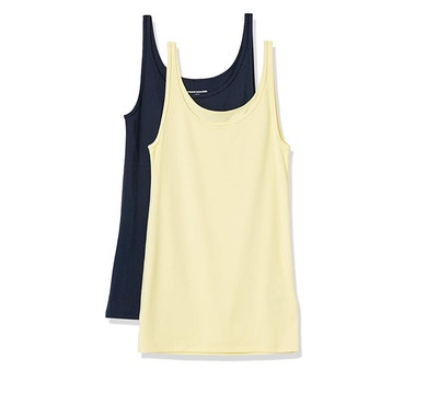 Amazon Essentials Thin Strap Tank Tops (2-Pack)
