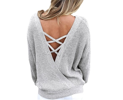 Asvivid Criss Cross Sweater