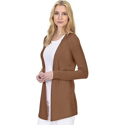State Fusio Open Front Cashmere Wool Cardigan