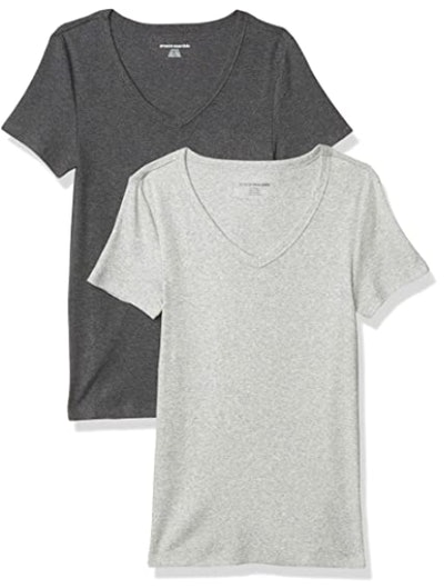 Amazon Essentials V-Neck T-Shirts (2-Pack)