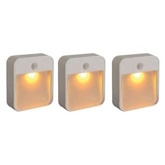 Mr. Beams Motion-Sensing LED Stick-Anywhere Night Light (3-Pack)