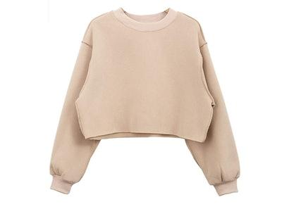 Amazhiyu Cropped Sweatshirt