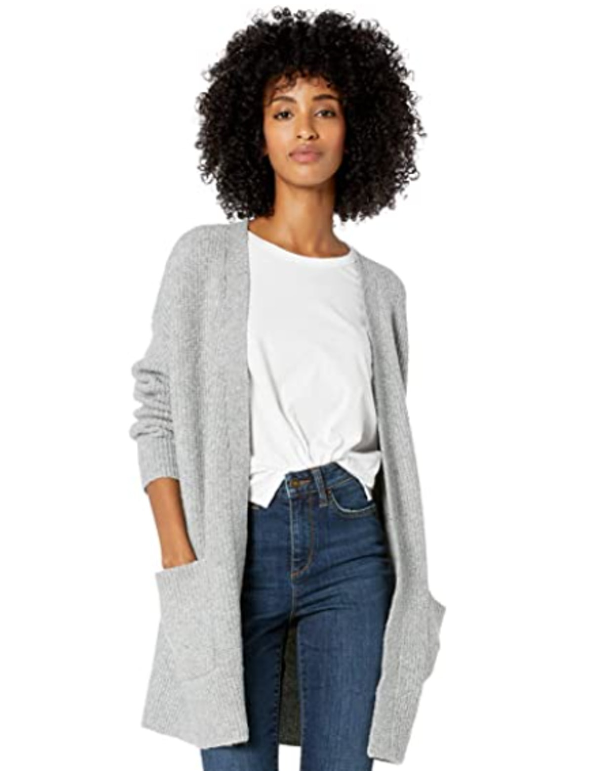 Goodthreads Women's Boucle Shaker Stitch Cardigan Sweater