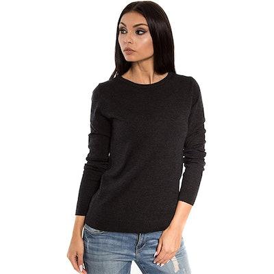 KNITTONS Merino Wool Crew Neck Sweater Pullover