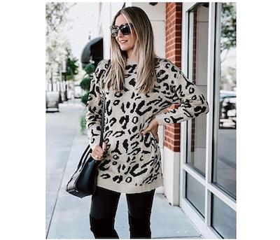PRETTYGARDEN Printed Sweater
