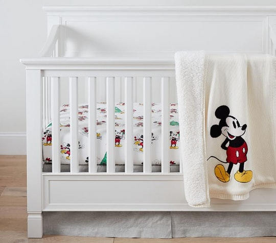 The Pottery Barn x Mickey Mouse collection includes everything from mugs to crib sheets.