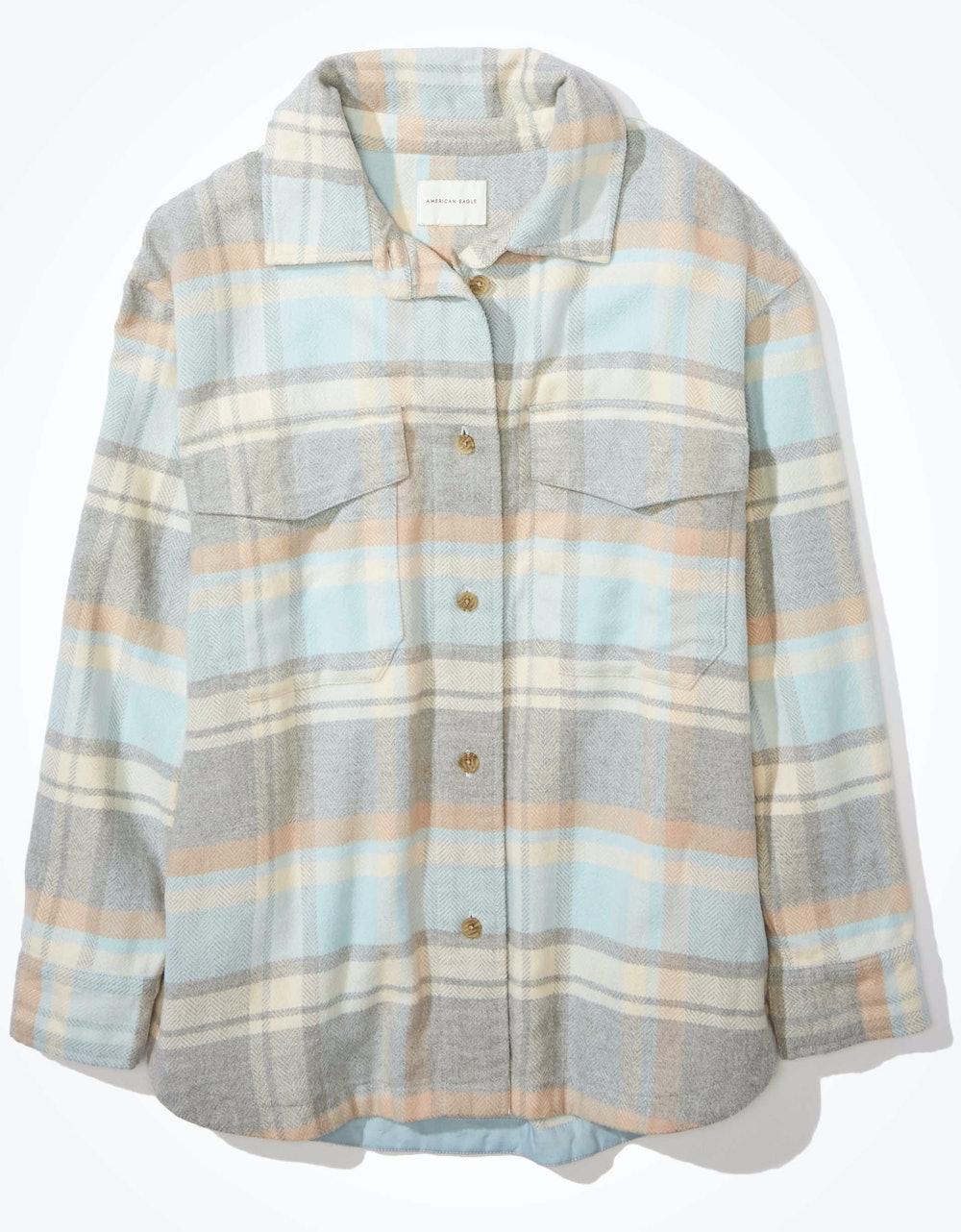 Oversized Button Up Shirt Jacket