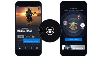 GroupWatch icon and invite screen on Disney+ mobile app