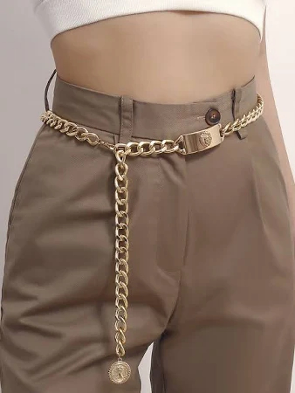 Coin Decor Chain Belt