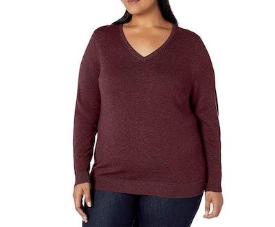 Amazon Essentials Plus-Size V-Neck Sweater