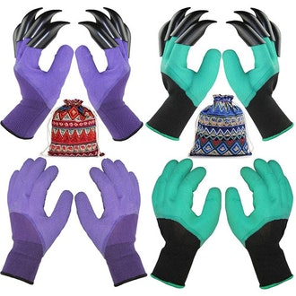TGeng Garden Gloves With Fingertips Claws (2 Pairs)