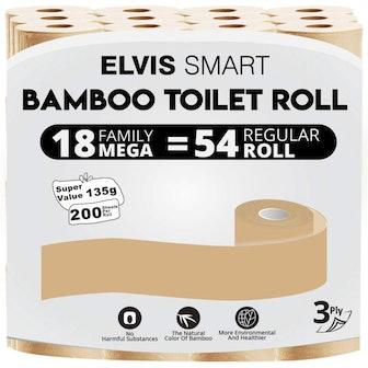 Elvis Smart Bamboo Toilet Paper (18-Pack)