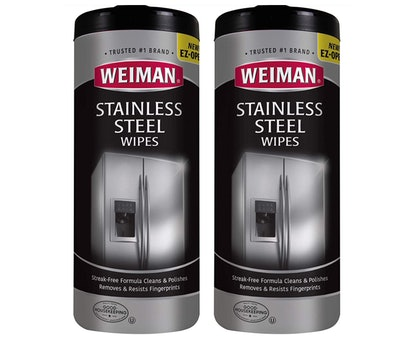 Weiman Stainless Steel Cleaner Wipes (2-Pack)