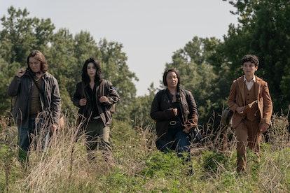 The cast of 'Walking Dead: World Beyond' via the AMC press site.