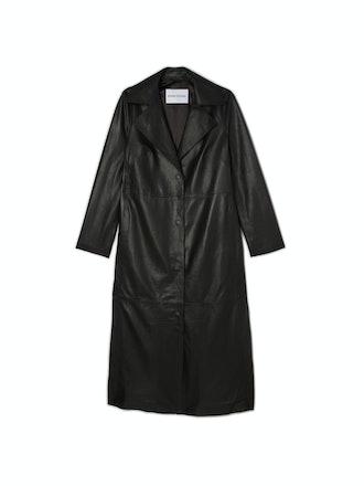Melissa Long Leather Coat