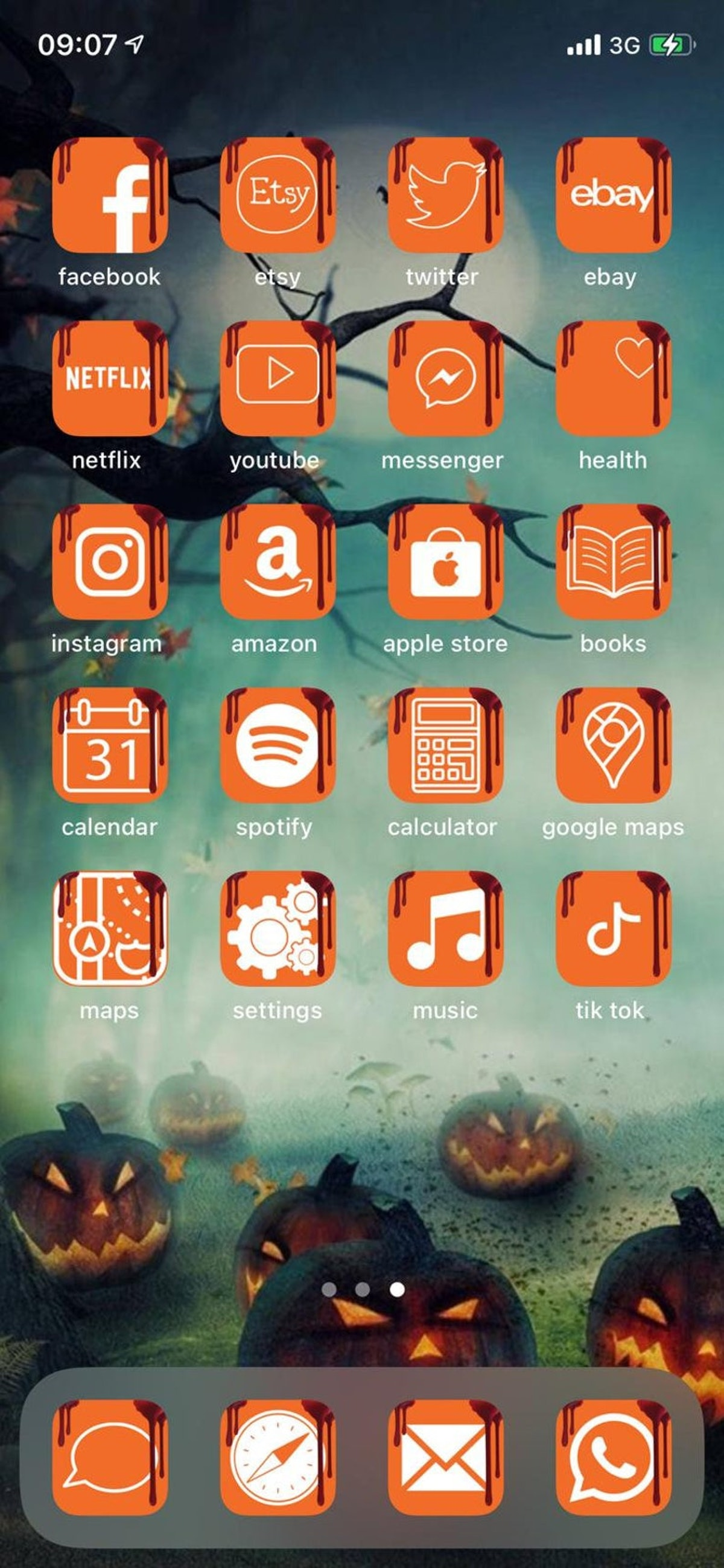 Halloween Theme iOS 14 Custom App Icons 50 Pack