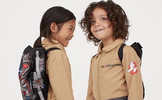 kids in h&m ghostbusters costumes