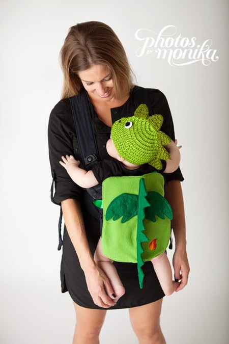 TicklesandtootsMB Flame the Dragon Baby Carrier Costume