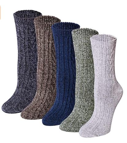 Rexabri Wool Socks (5-Pack)
