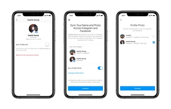 Facebook will allow users to synchronize their name and profile picture across Facebook and Instagram.