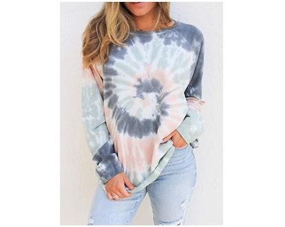Zecilbo Tie Dye Sweatshirt