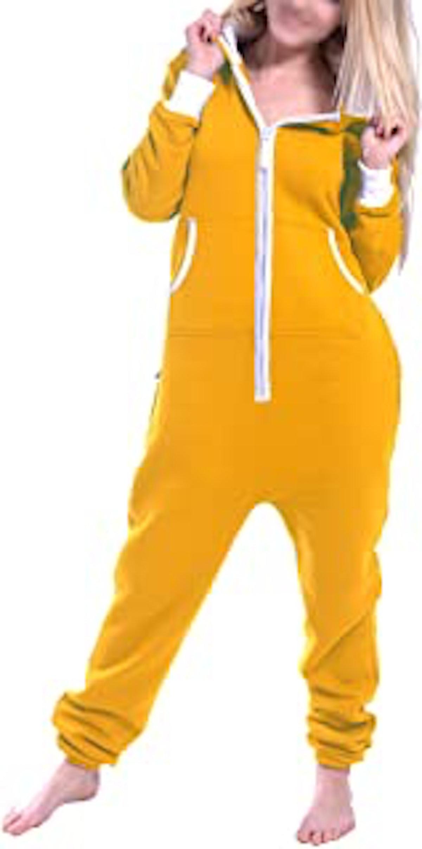 Skylinewears Women's Ladies Onesie Hoodie Jumpsuit Playsuit