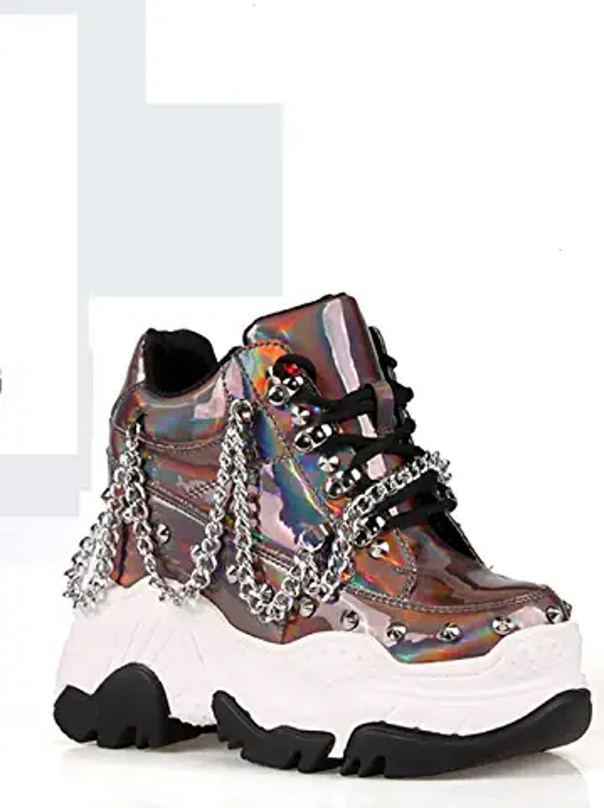 Anthony Wang Space Candy Embellished Stud Design Platform Lace up Fashion Sneaker