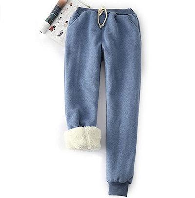 Yeokou Women's Sherpa Lined Sweatpants