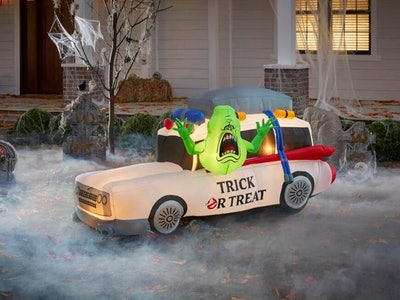 This Ghostbusters yard inflatable is the perfect way to celebrate Halloween.