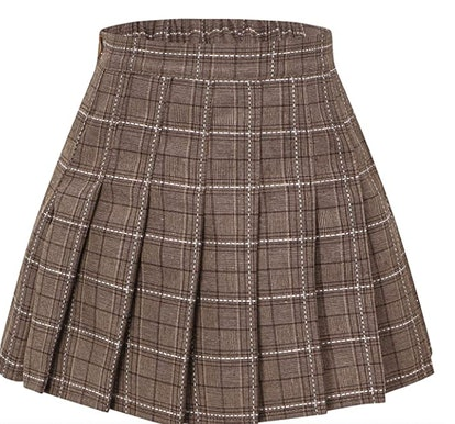 Sangtree Pleated Skirt with Comfy Stretchy Band for Women