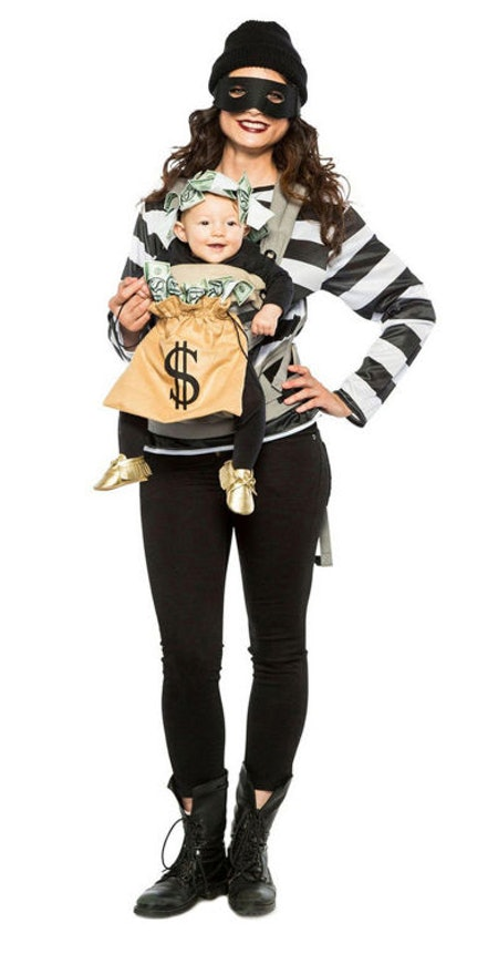 Adults Robber & Money Bag Carrier Costume Unisex