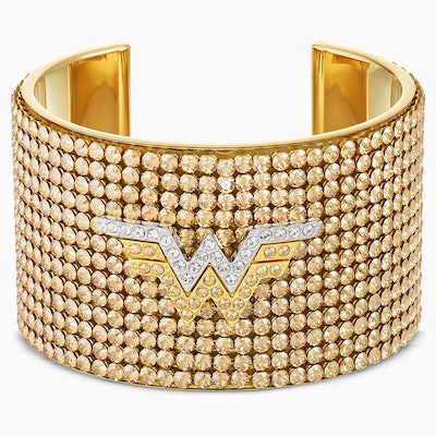 Wonder Woman Cuff, Gold Tone, Mixed Metal Finish