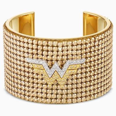 Wonder Woman Cuff, Gold Tone, Mixed Metal Finish