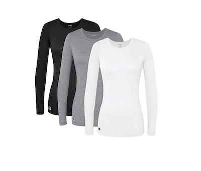 Sivvan Comfort Long Sleeve T-Shirt/Underscrub Tee (3-Pack)