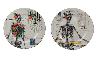 "13"" Skeleton Charger Plates"