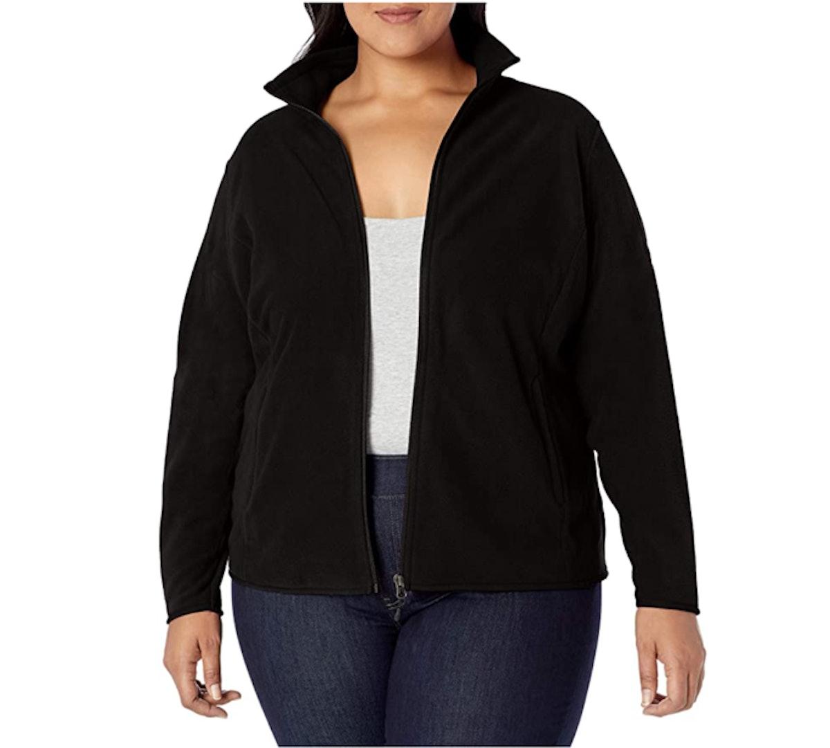 Amazon Essentials Plus Size Full-Zip Fleece Jacket
