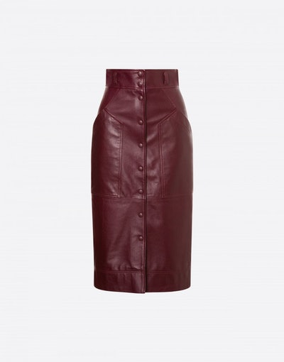 Nappa Leather Pencil Skirt