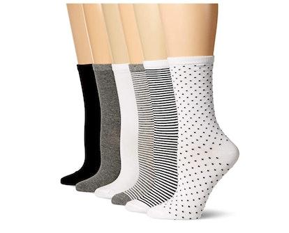 Amazon Essentials Casual Crew Socks (6-Pack)