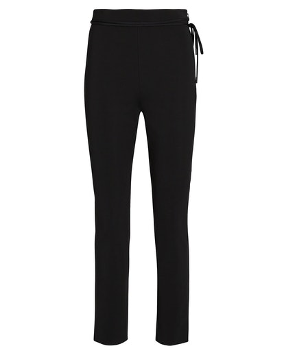 Cropped Crepe Pants