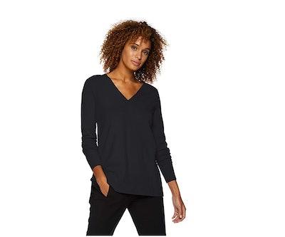Lark & Ro Women's Premium Viscose Blend V-Neck Sweater