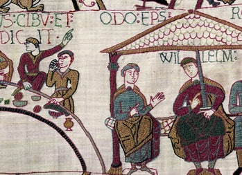 The Bayuex Tapestry, created in the early 1100s. Scientists used some of the same techniques that were used to create the ancient story.