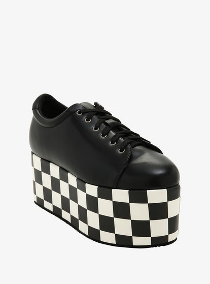 Hot Topic Checkered Sole Platform Sneakers