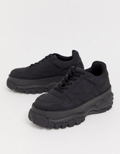 ASOS Design Denmark Chunky Sneakers in Black