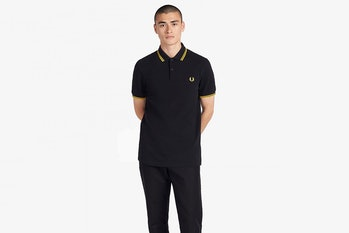 Fredd Perry Black and Yellow Polo