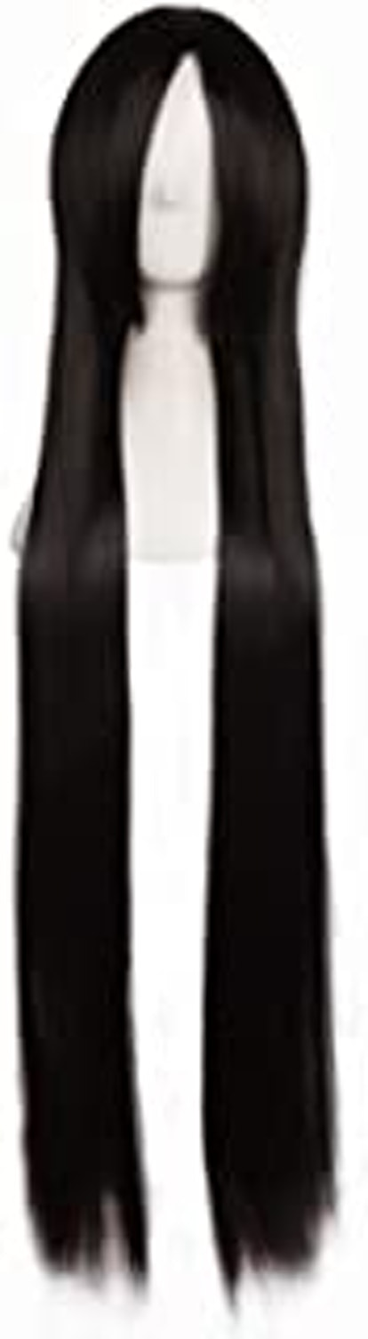 """MapofBeauty 40"""" 100cm Black Long Straight Cosplay Costume Wig Fashion Party Wig"""