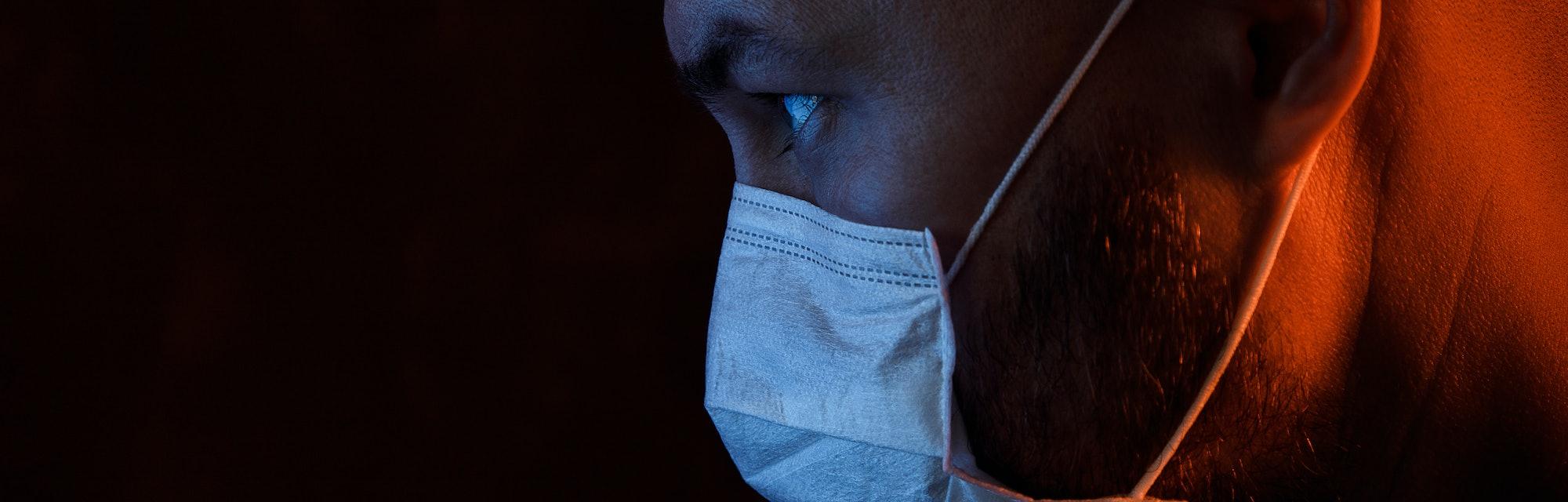 Man wearing a mask.