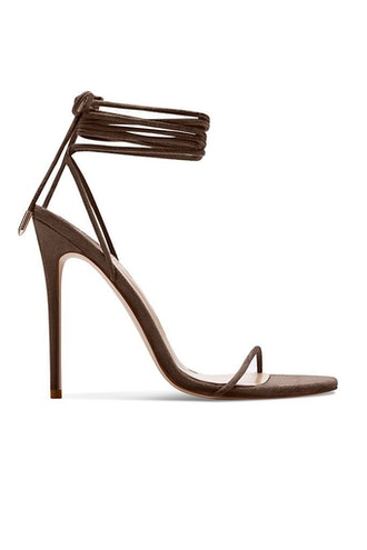 Barely There Lace Up Heel - Choco